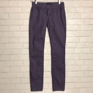 Prana KARA Pants Purple 4/27 Skinny Mid Rise